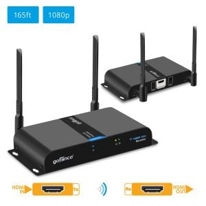 Wireless HDMI Extender Kit with Dual Antenna 1080p – 165ft (50m) (HDwirelessDual)
