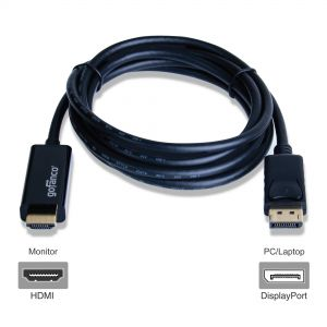 6ft DisplayPort v1.2 to HDMI Cable – Black (DP4kHDMI6F)