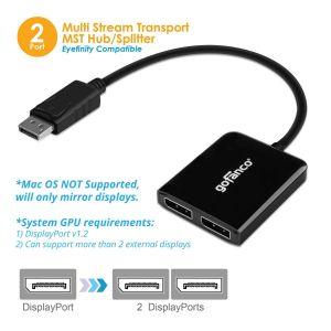 DisplayPort MST Hub/Splitter to 2x DisplayPort (DPMST2DP)