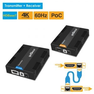 HDBaseT HDMI 1.4 Extender over CAT5e/6/7 with IR - 230ft (70m) (HDbaseT-Ext)