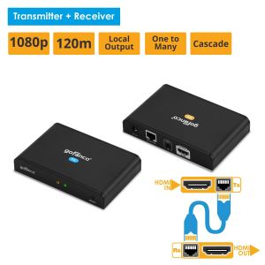 HDbitT HDMI Over IP CAT5e/6 Extender with Loopout - 395ft (120m) (HDbitTPRO)