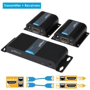 2-Port HDMI Extender/Splitter with IR – 130ft (40m) (HDMIExtSplit)