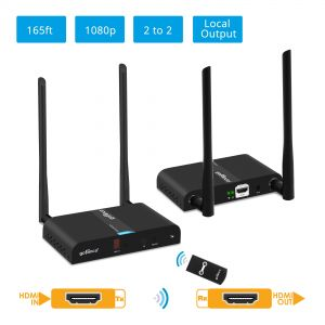 Multi-Channel Wireless HDMI Extender Kit 1080p – 165ft (50m) (HDwirelessMulti)