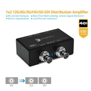 Prophecy 12G-SDI 1x2 Distribution Amplifier (Splitter) (PRO-12GSDI2P)