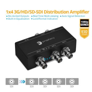 Prophecy 3G-SDI 1x4 Distribution Amplifier (Splitter) (PRO-3GSDI4P)
