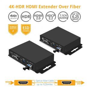 4K HDR Extender over Fiber 6.25 miles (10km) (PRO-FiberExt)