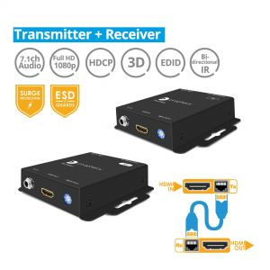 HDMI CAT5e/6 Extender with IR 130ft (40m) (PRO-HDExt)