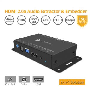 HDMI 2.0a Audio Extractor & Embedder (PRO-HDRextract)
