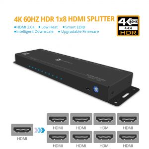 4K-HDR 1x8 Splitter (PRO-HDRsplit8P)