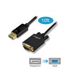 displayport to VGA adapter cable 10ft gold plated
