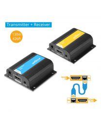 HDMI Extender Kit Long Range - Transmitter and Receiver gofanco