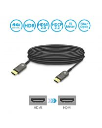 Male HDMI 2.0 to Male HDMI 2.0 Fiber Optic Cable 15m gofanco