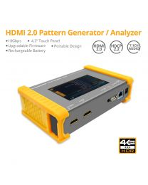 """HDMI 2.0 Pattern Generator and Analyzer - 18 Gbps, 4.3"""" Touch Panel, Portable, Rechargeable Battery, Upgradable Firmware"""