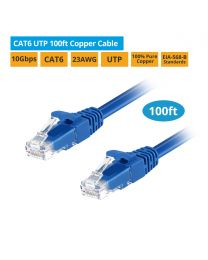 CAT6 UTP 100ft 100% Pure Copper Ethernet Cable gofanco