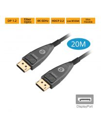 Male DisplayPort to Male DisplayPort Fiber Optic Cable 20m gofanco