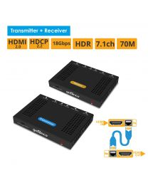 HDBaseT HDMI 2.0 Extender with HDR - 230ft (70m) (HDbaseT-HDR)