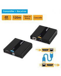 4K HDMI over IP network extender Kit (Receiver & Transmitter) HDbitT gofanco