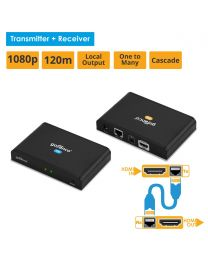 HDMI HDbitT CAT5e/6 Extender 1080p with Loopout-120m (HDbitTPRO)