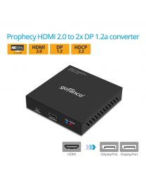 Prophecy HDMI 2.0 to 2x DisplayPort 1.2a Converter (HDMI2DP-2P)