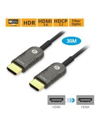Male HDMI 2.0 to Male HDMI 2.0 Fiber Optic Cable 30m gofanco