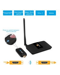 10x1 Wireless HDMI Extender Kit 1080p-20m (HDwireless10x1)