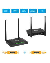 Dual Antenna Wireless HDMI Extender KIT (150m) Transmitter and Receiver gofanco