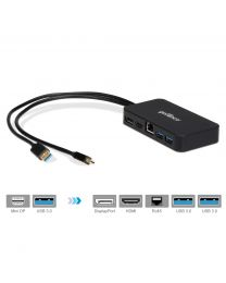 mDPDock (Mini DisplayPort Video Dock with USB 3.0 LAN Hub - Black)