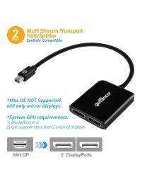 Mini DisplayPort MST Hub to 2x DisplayPort (mDPMST2DP)