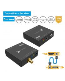 HDMI Extender Over Coaxial Kit - Transmitter and Receiver gofanco