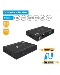 HDBaseT Transmitter and Receiver HDMI Extender Kit 4k@30Hz gofanco