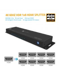 Prophecy gofanco - 4K 60Hz HDR 1x8 HDMI 2.0 Splitter - EDID, Downscale, Firmware Upgradable