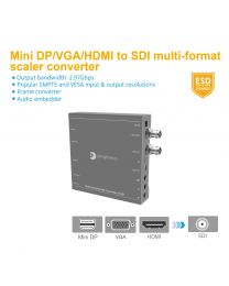 (HDMI/Mini DP/VGA/CVBS/YPbPr) to SDI Multi-Format Scaler & Converter gofanco