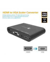 HDMI to VGA Scaler Converter with Audio gofanco