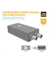 3G/HD/SD-SDI to HDMI Converter with Audio Embedder gofanco