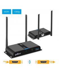 Dual Antenna Wireless HDMI Extender KIT Transmitter and Receiver gofanco