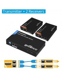 1x transmitter and 2x receiver hdmi extender splitter gofanco prophecy