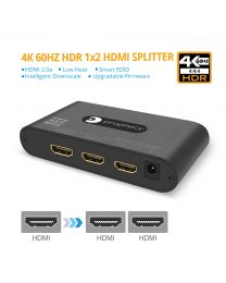 Prophecy gofanco - 4K 60Hz HDR 1x2 HDMI 2.0 Splitter - EDID, Downscale, Firmware Upgradable