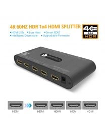 Prophecy gofanco - 4K 60Hz HDR 1x4 HDMI 2.0 Splitter - EDID, Downscale, Firmware Upgradable