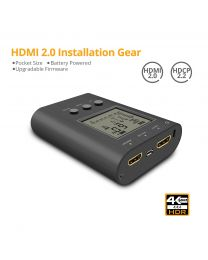 HDMI 2.0 Installation Gear - Pocket size, Battery Powered, Up-gradable Firmware