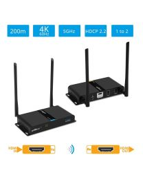 (OPEN BOX) Wireless HDMI Extender Kit 4K – 200m (HDwireless4K)