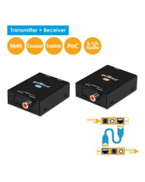 Coaxial/Toslink CAT5e/6 Extender – 300m (AudioCATExt)