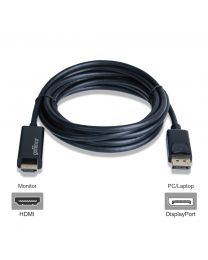 Male DisplayPort to Male HDMI 4K cable adapter 10ft gofanco