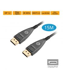 Male DisplayPort to Male DisplayPort Fiber Optic Cable 15m gofanco