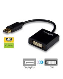 displayport to dvi adapter 10ft gold plated black