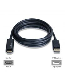 Male DisplayPort to Male HDMI cable adapter 10ft gofanco