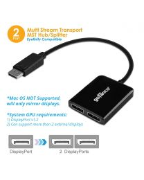 DisplayPort MST Hub/Splitter to 2x DisplayPort (DPMST2DP)