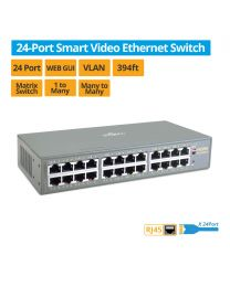 24-Port Smart Video Ethernet Network Switch (EthSwitch24P)
