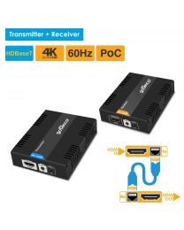 HDBaseT transmitter and receiver hdmi extender kit 4k gofanco