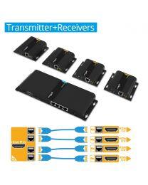 1x4 HDbitT HDMI Extender Splitter