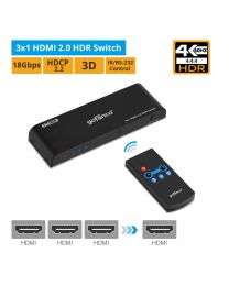 3x1 HDMI 2.0 HDR Switch gofanco